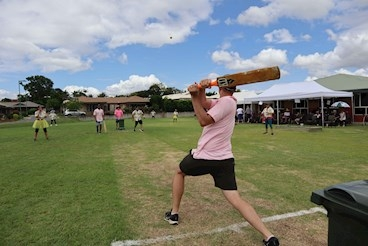 Residents enjoy Bolton Clarke's Australia Day 'big bash' community cricket